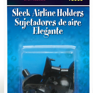 Lee's Aquarium Sleek Black Airline Holders 6pk