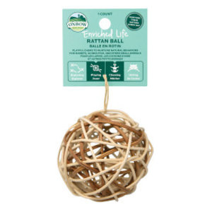 Enriched Life Rattan Ball Wrap Animal Toy