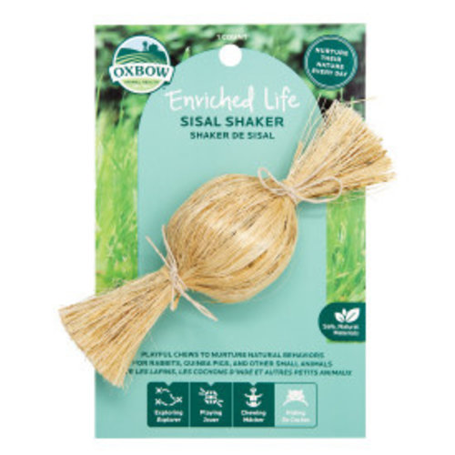 Oxbow Enriched Life Sisal Shaker Small Animal Toy