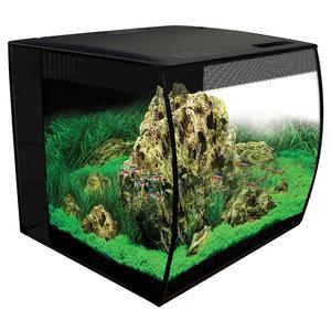 Fluval Flex Aquarium Kit - Black - 15 Gallon