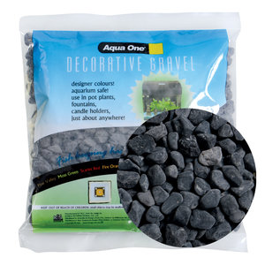 Aqua One Decorative Gravel - Black Ice - 500 g (1.1 lbs)