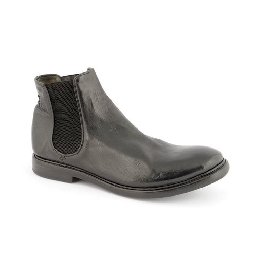 Preventi GIORGIO handmade boot. Calf leather. Size 44. Black.
