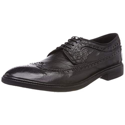 Preventi SIMON handmade shoes. Calf leather. Lace up. Size 43. Black.