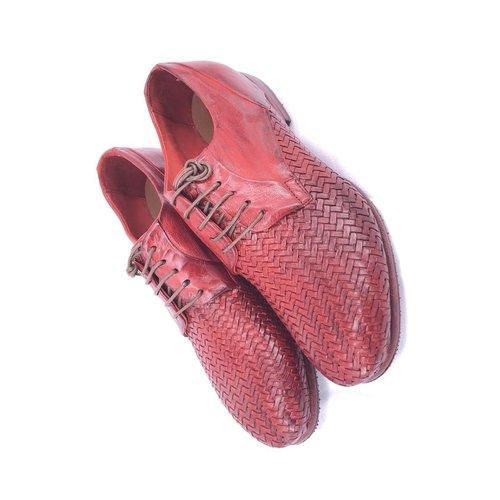 Lemargo Lemargo handmade footwear. Braid. Red. Size 36.5