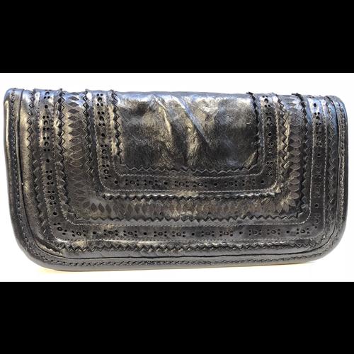Campomaggi 100% genuine leather. Wallet. Laser Corallo. Black.