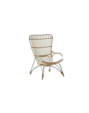 Exterior Monet High Back Chair - Exterior - Dove White