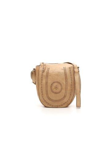 Campomaggi Crossbody bag. Leather. Bleached. Multi-seams. Beige.