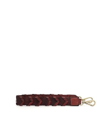 Campomaggi Shoulder Strap. Leather. Braided. Cognac.