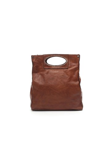 Campomaggi 100% genuine leather. Shopper. Cognac.