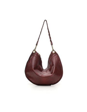 Campomaggi Shoulder bag. Medium. Genuine leather. Wine.