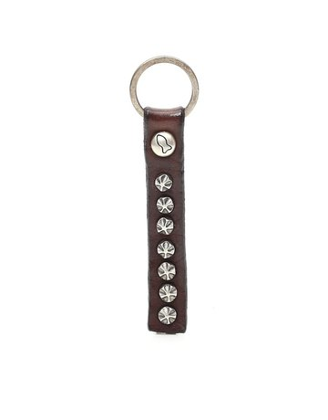 Campomaggi Key Holder. Genuine leather. Flower Studs. Moro.