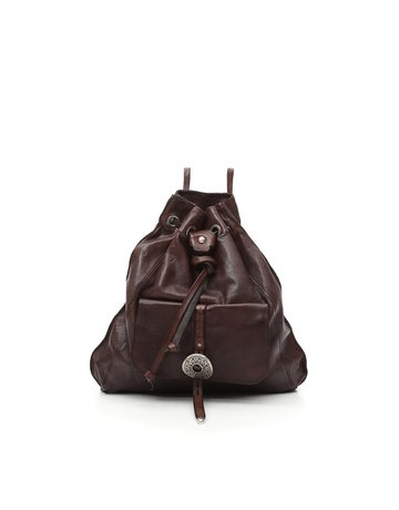 Campomaggi Backpack. Genuine leather + Belt oval buckle. Moro.