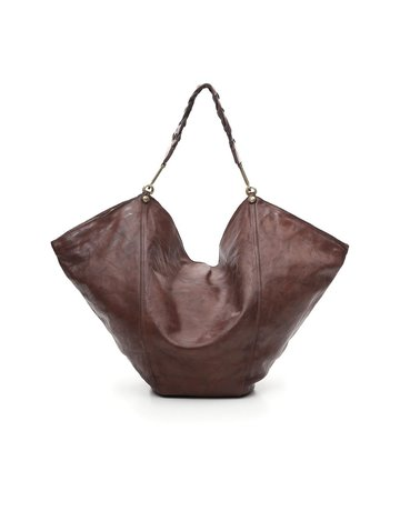 Campomaggi Anna L Shoulder bag. Large. Genuine leather. Moro.