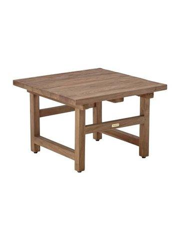 Teak Alfred Side Table.  60x60 cm.<br />Old Teak.
