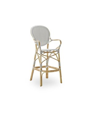 Affaire Isabell Bar Stool. SH 76cm. White with Cappucino Dots