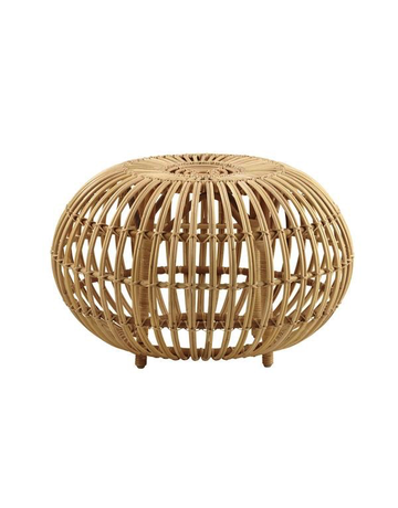 Icons Franco Albini Rattan Ottoman. 55cm diameter. Natural skin on.