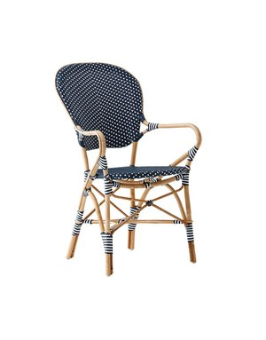 Affaire Isabell Arm Chair. Navy blue with White Dot