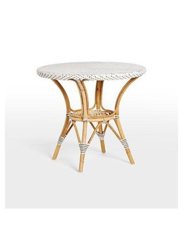 Affaire Danielle Side Table, White with Cappucino Dot-Glass is optional code P9O60