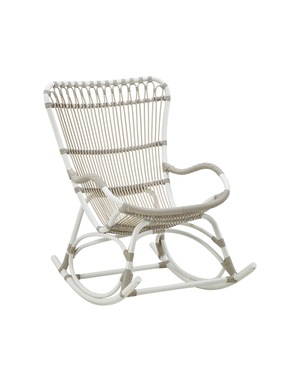 Exterior Monet Rocking Chair - Exterior - Dove White