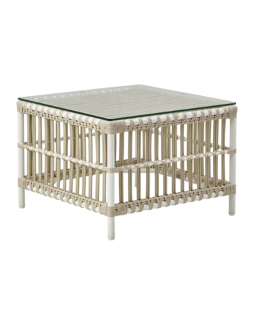 Exterior Donatello Side Table - Exterior - excluding glass - Dove White