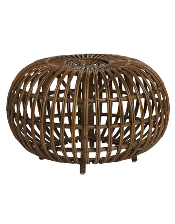 Icons Franco Albini Rattan Ottoman. 65cm diameter. Antique colour.