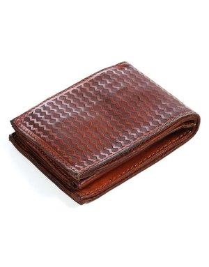 Campomaggi Wallet. Horizontal + Coin Purse + Zig Zag Laser. Cognac.