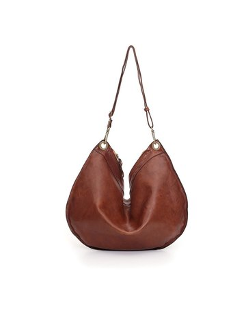 Campomaggi Shoulder bag. Large. Genuine leather. Cognac