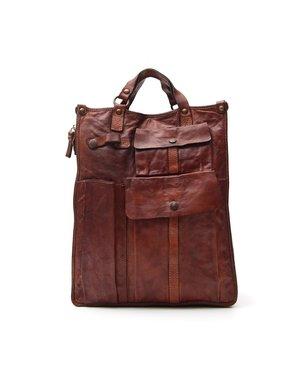 "Campomaggi Cowhide Leather Bag.  Famous ""Moscati"" design. Cognac"