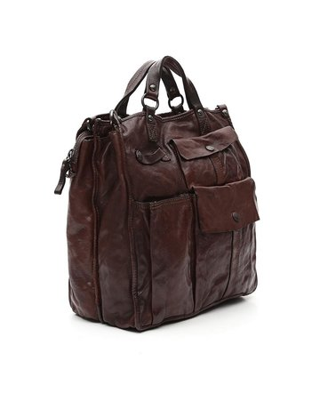 "Campomaggi 100% genuine leather. ""Moscati"" style Tote bag. (C4924 VL). Moro"