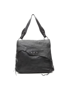 Campomaggi Shoulder bag. Medium. Genuine leather w seams. Black.