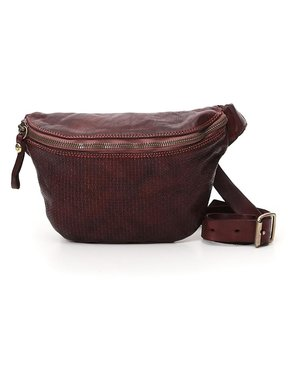 Campomaggi Waist Bag. Genuine leather. Hexagonal. Wine.