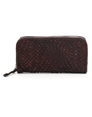 Campomaggi Wallet. Genuine Leather. Optical woven. Moro.