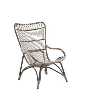 Exterior Monet High Back Chair - Exterior - MOCCACHINO
