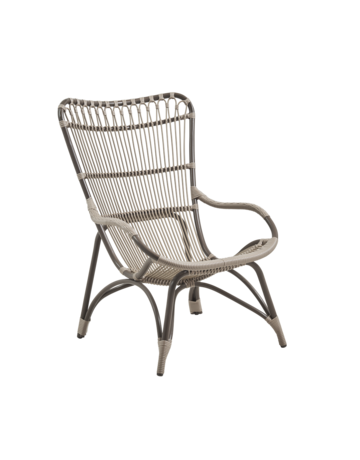 Exterior Monet High Back Chair - Exterior - MOCCACHINO