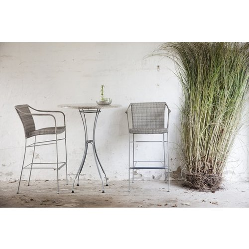 Pluto Barstool - Weathered Teak Grey