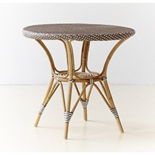 Affaire Danielle Cafe Table Round, 80cm, Cappucino with White Dot-Glass is optional code P9O80