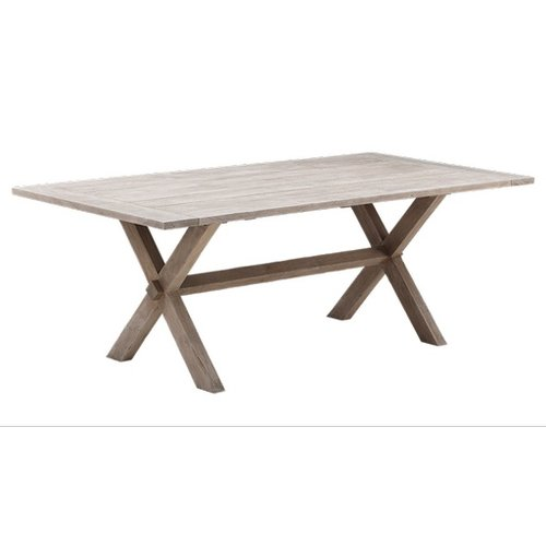 Teak Colonial Teak Table - 100 x 200cm, Natural