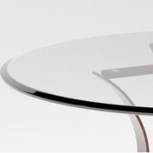 Glass Top Round, Bevelled Edge, D100cm [Now code P9002 8mm]