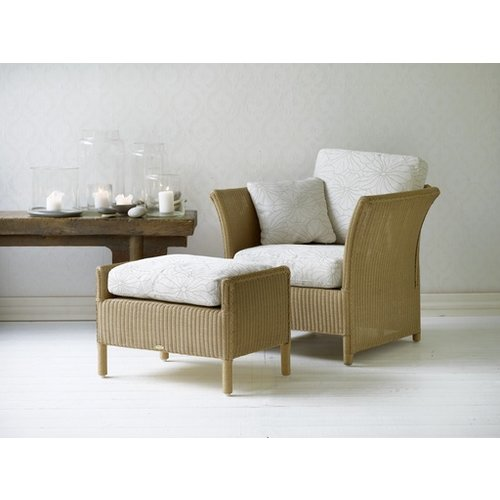 Largo Footstool Cushion, C101, White