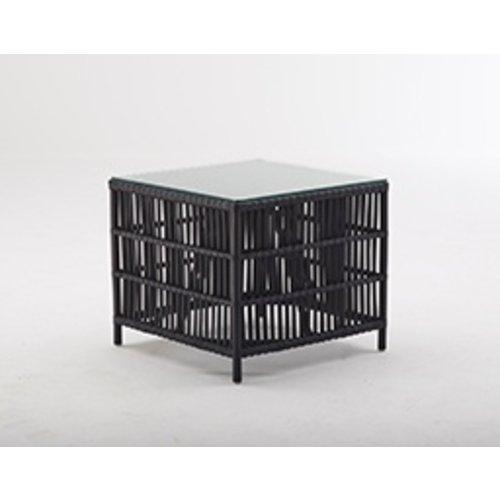Originals Donatello Side Table incl glass - Matt Black