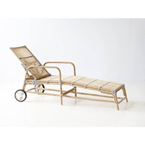 Affaire Josephine Sun Bed, White/Cappucino