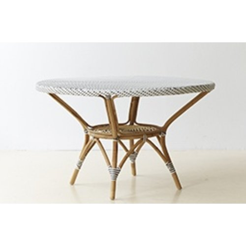 Affaire Danielle Dining Table, White with Cappucino Dot - Glass is optional code P9012