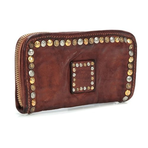 Campomaggi Cowhide Leather Wallet, Cognac