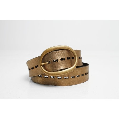 Campomaggi Cowhide Leather Belt Bronze 90