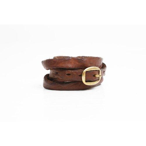 Campomaggi Cowhide Leather Bracelet, Cognac