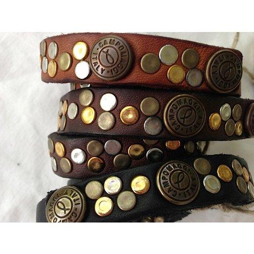 Campomaggi Cowhide Leather Bracelet, Black