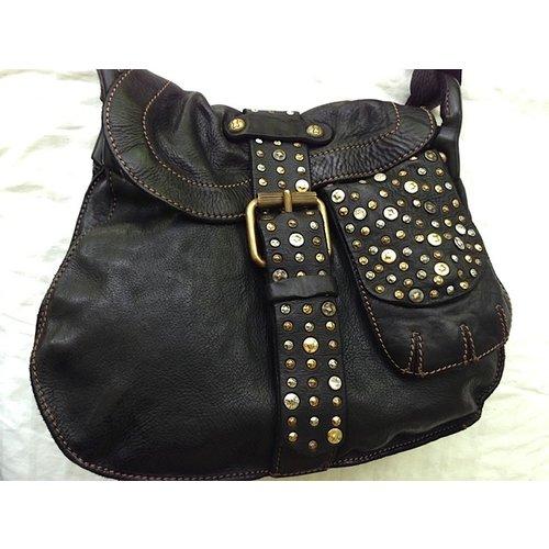 Campomaggi Cowhide Leather Shoulder Bag,  Black