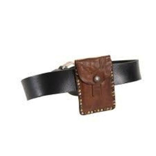 Campomaggi Pouch closable for belt, Dark Brown