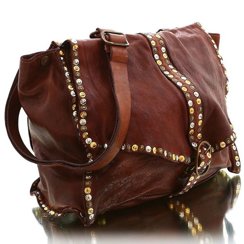 Campomaggi Cowhide Leather Bag, Cognac