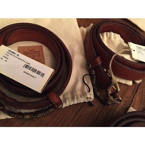Campomaggi Cowhide Leather Belt, Cognac